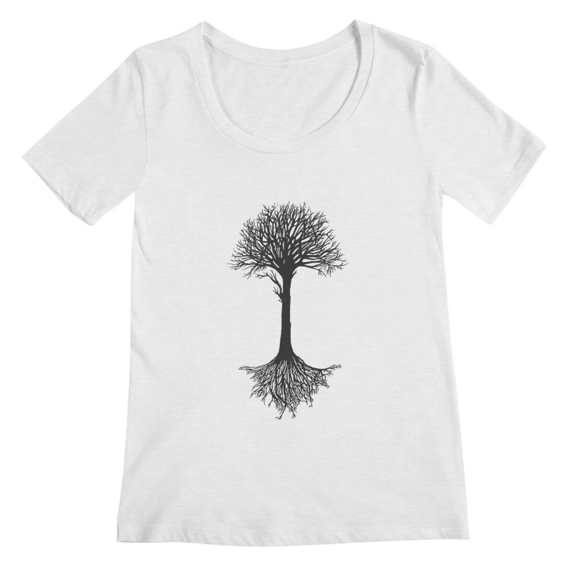 You're Grounded Women's Regular Scoop Neck by Amu Designs Artist Shop