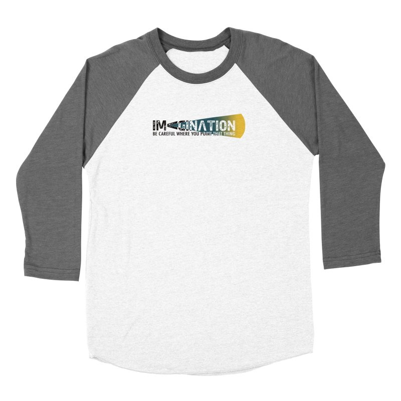 Imagination - be careful where you point that thing Men's Baseball Triblend Longsleeve T-Shirt by Amu Designs Artist Shop