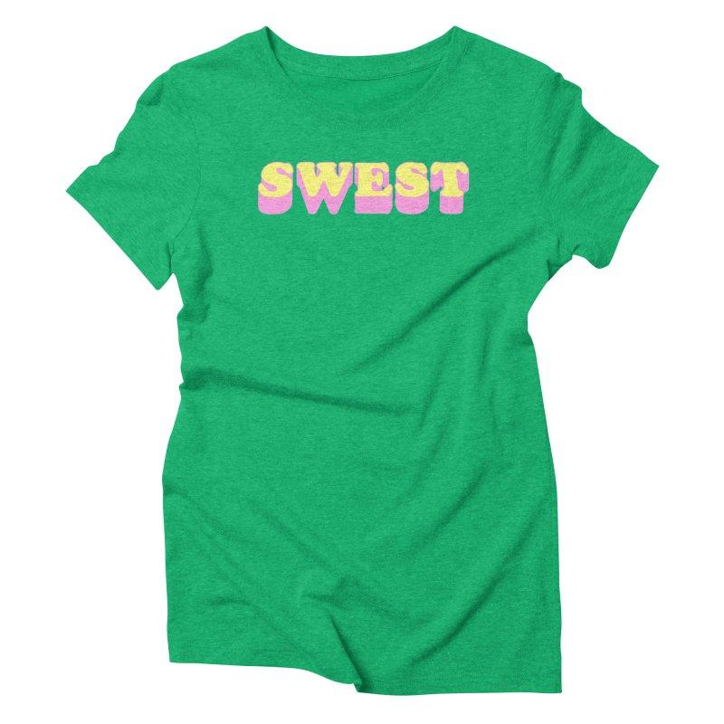 SWEST Women's Triblend T-Shirt by amybelonio's Artist Shop