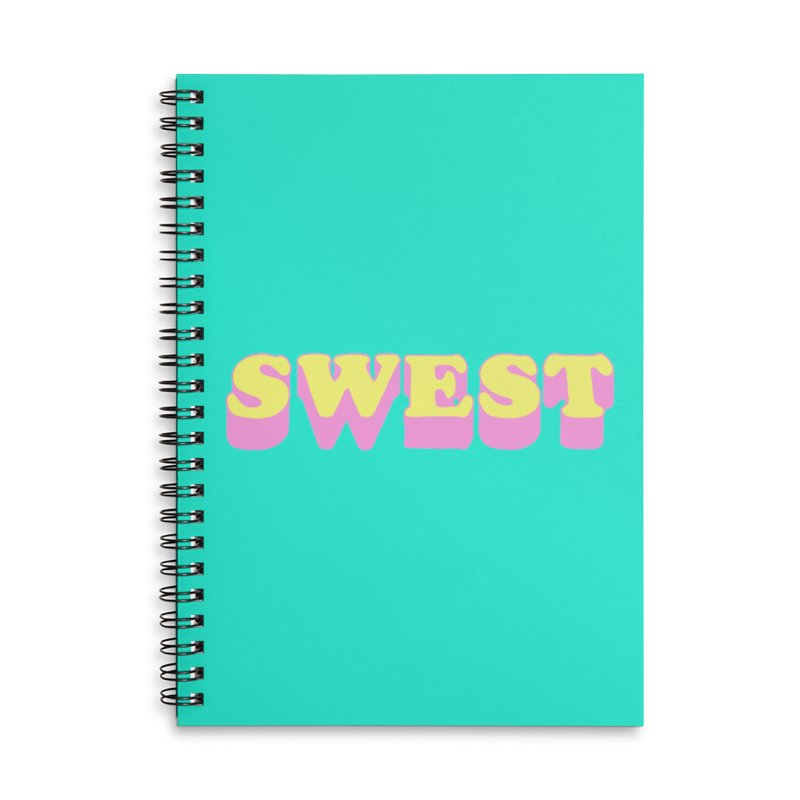 SWEST Accessories Lined Spiral Notebook by amybelonio's Artist Shop