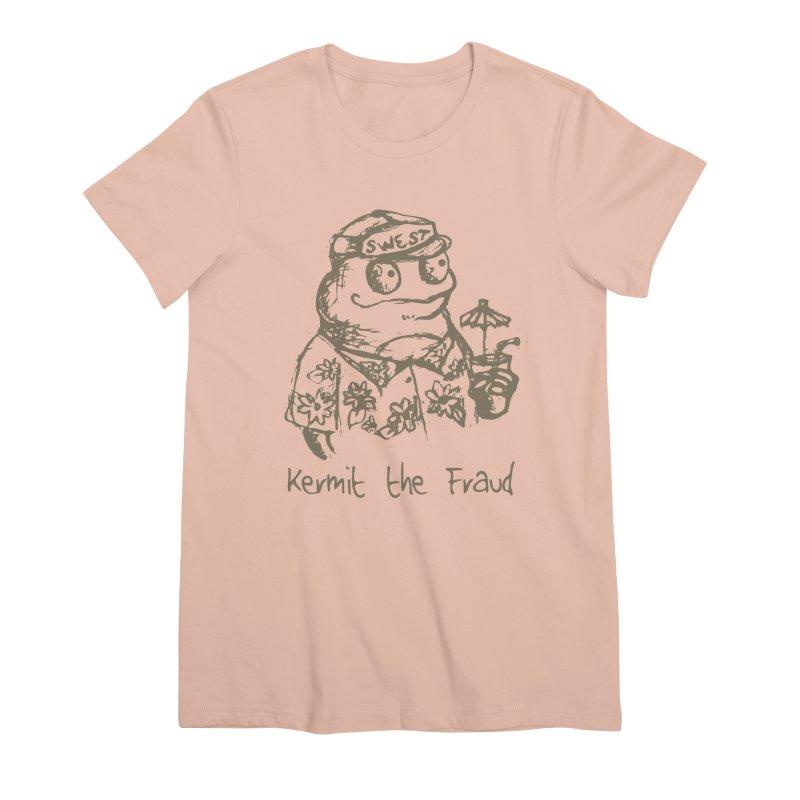 Fraudulent Frog Women's Premium T-Shirt by amybelonio's Artist Shop