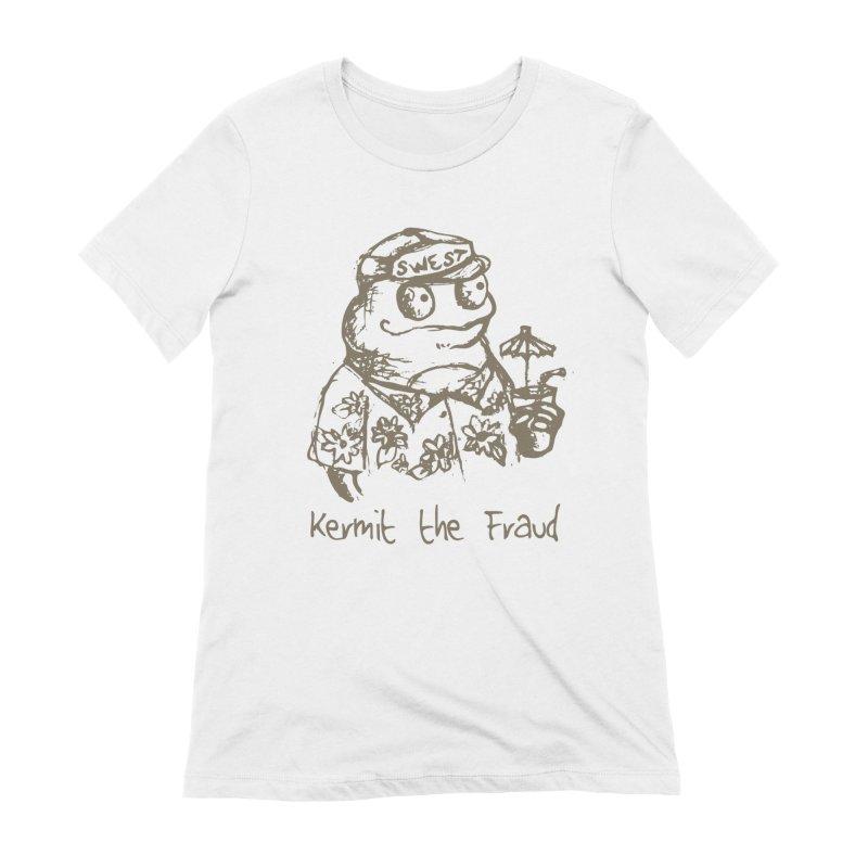 Fraudulent Frog Women's Extra Soft T-Shirt by amybelonio's Artist Shop