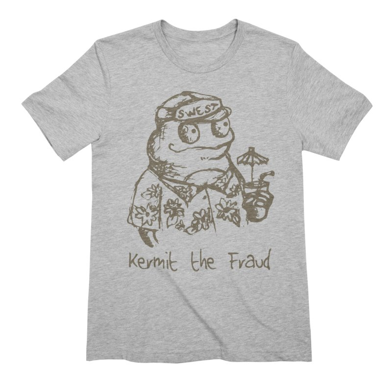 Fraudulent Frog Men's Extra Soft T-Shirt by amybelonio's Artist Shop