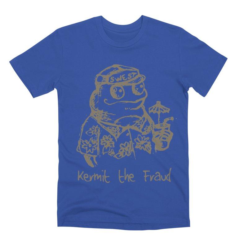 Fraudulent Frog Men's T-Shirt by amybelonio's Artist Shop