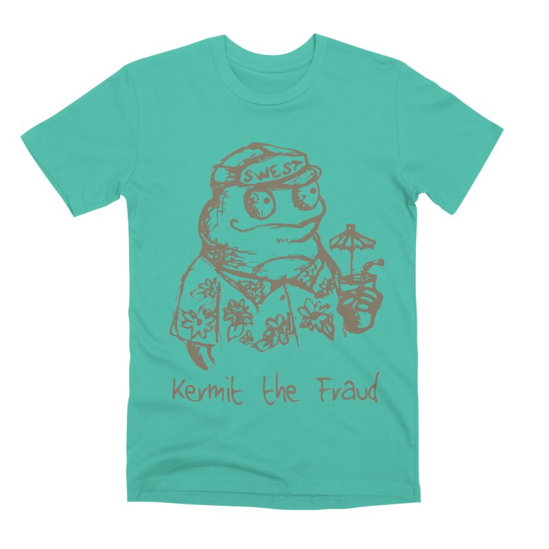 Fraudulent Frog Men's Premium T-Shirt by amybelonio's Artist Shop