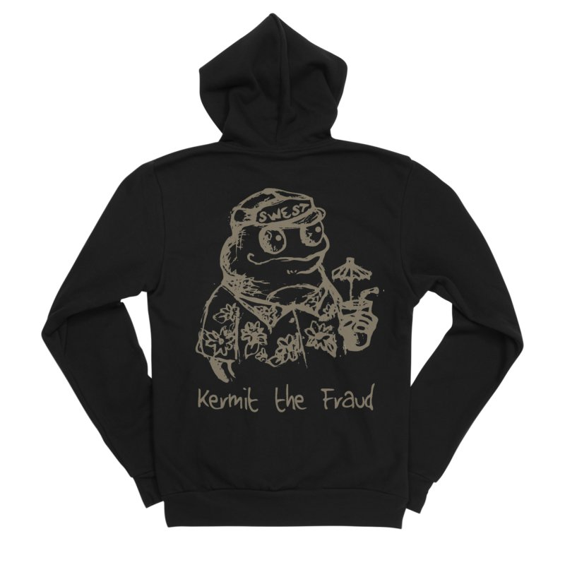 Fraudulent Frog Men's Sponge Fleece Zip-Up Hoody by amybelonio's Artist Shop