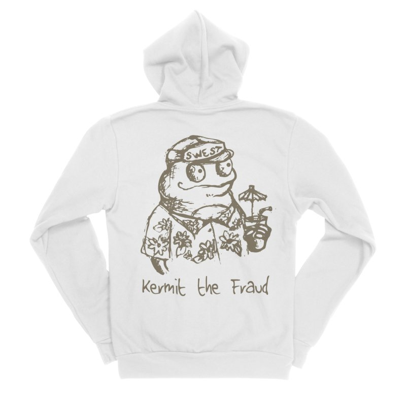 Fraudulent Frog Women's Sponge Fleece Zip-Up Hoody by amybelonio's Artist Shop