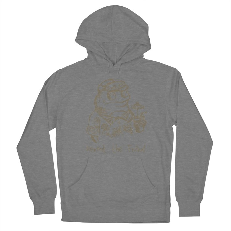 Fraudulent Frog Men's French Terry Pullover Hoody by amybelonio's Artist Shop