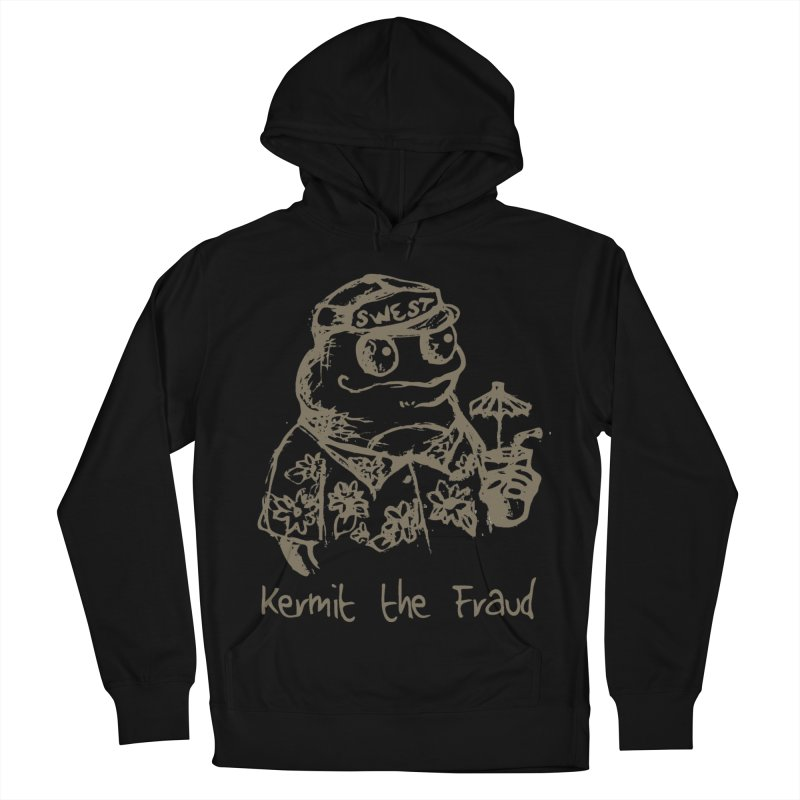 Fraudulent Frog Women's French Terry Pullover Hoody by amybelonio's Artist Shop