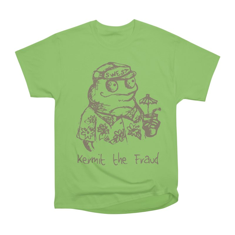 Fraudulent Frog Men's Heavyweight T-Shirt by amybelonio's Artist Shop