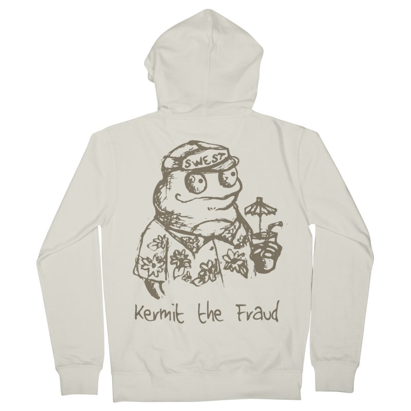 Fraudulent Frog Women's French Terry Zip-Up Hoody by amybelonio's Artist Shop