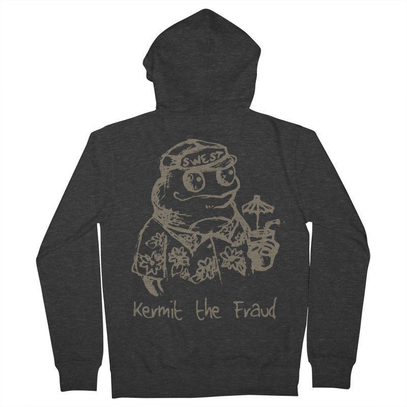 Fraudulent Frog Men's French Terry Zip-Up Hoody by amybelonio's Artist Shop