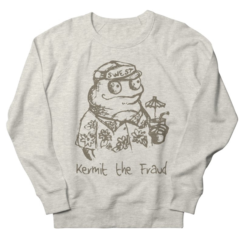 Fraudulent Frog Men's French Terry Sweatshirt by amybelonio's Artist Shop