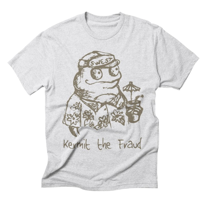 Fraudulent Frog Men's Triblend T-Shirt by amybelonio's Artist Shop