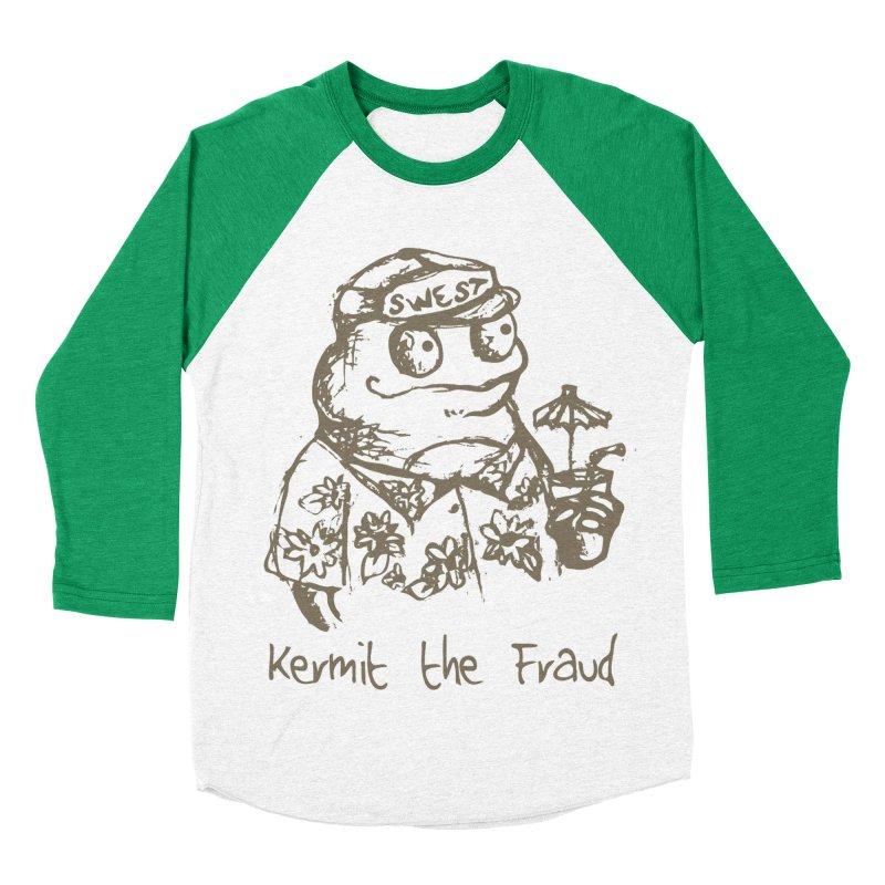 Fraudulent Frog Women's Baseball Triblend Longsleeve T-Shirt by amybelonio's Artist Shop