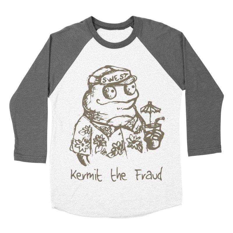 Fraudulent Frog Men's Baseball Triblend Longsleeve T-Shirt by amybelonio's Artist Shop