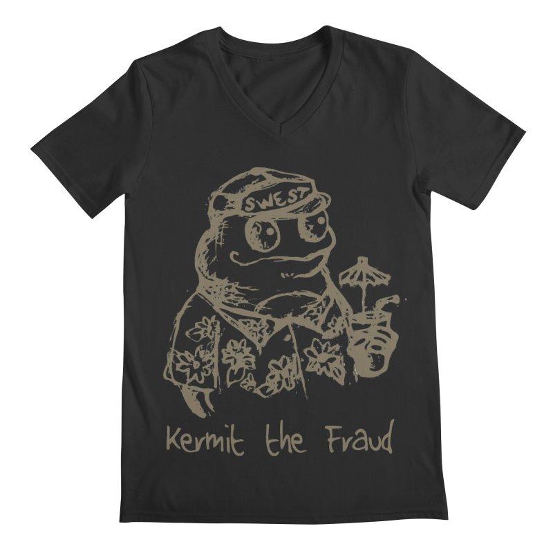 Fraudulent Frog Men's Regular V-Neck by amybelonio's Artist Shop