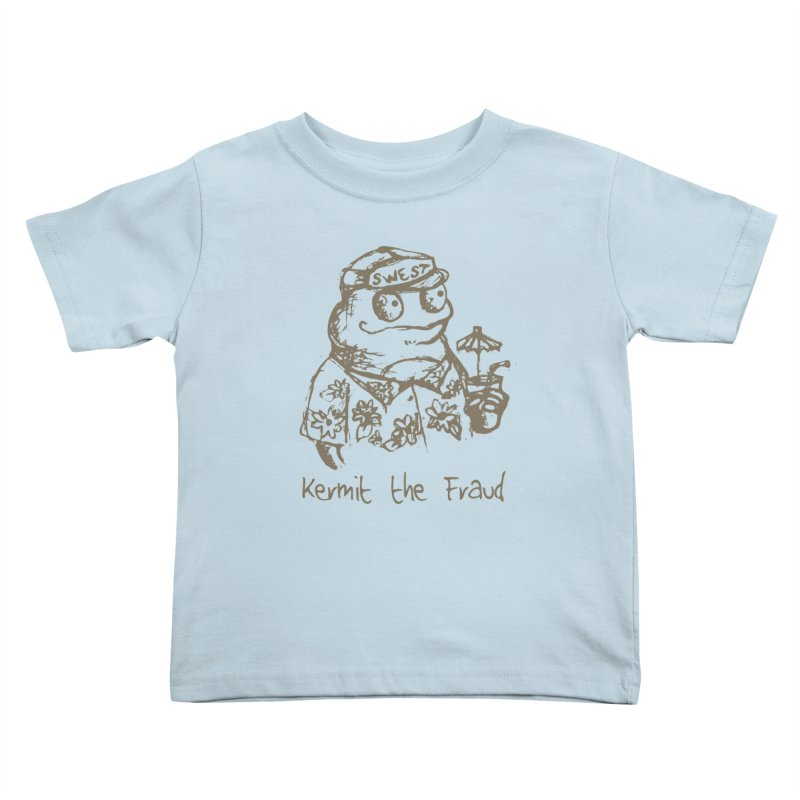 Fraudulent Frog Kids Toddler T-Shirt by amybelonio's Artist Shop