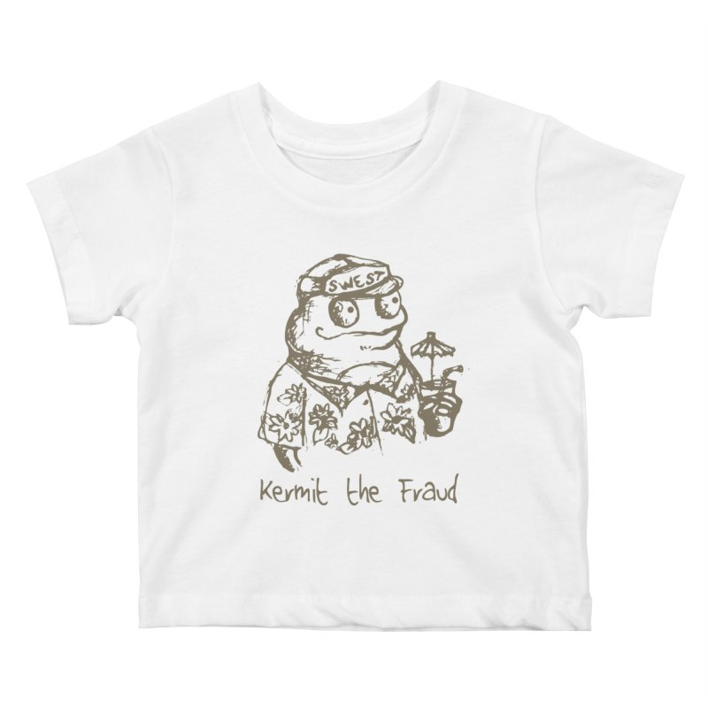 Fraudulent Frog Kids Baby T-Shirt by amybelonio's Artist Shop