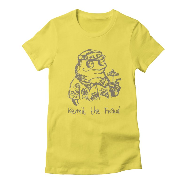 Fraudulent Frog Women's T-Shirt by amybelonio's Artist Shop