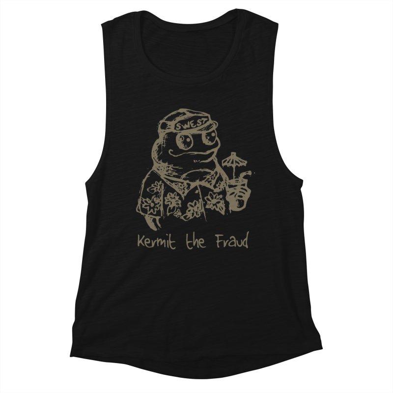 Fraudulent Frog Women's Muscle Tank by amybelonio's Artist Shop