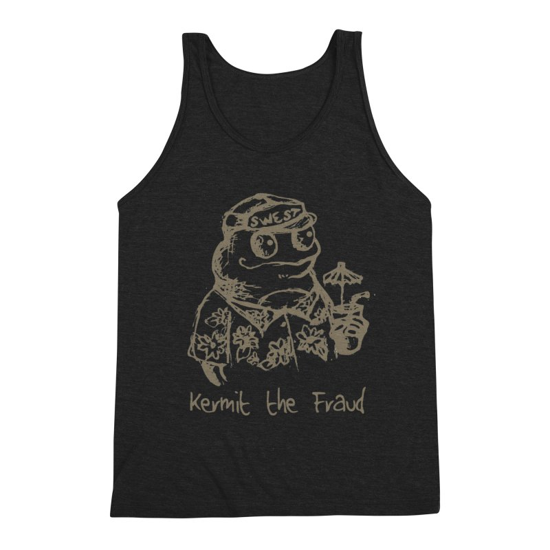 Fraudulent Frog Men's Triblend Tank by amybelonio's Artist Shop