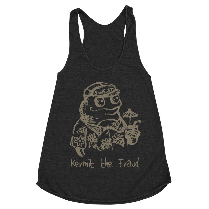 Fraudulent Frog Women's Racerback Triblend Tank by amybelonio's Artist Shop