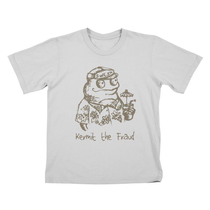 Fraudulent Frog Kids T-Shirt by amybelonio's Artist Shop