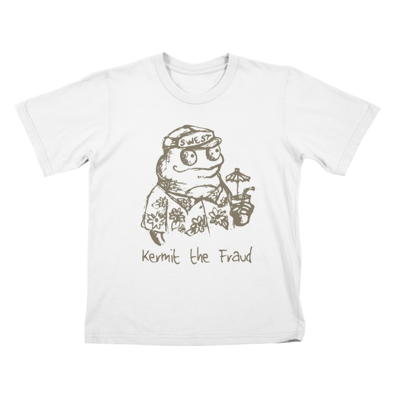 Fraudulent Frog Kids T-Shirt by amybelonio's Artist Shop