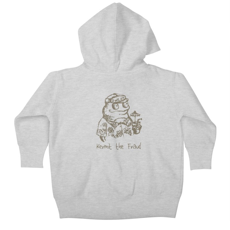 Fraudulent Frog Kids Baby Zip-Up Hoody by amybelonio's Artist Shop