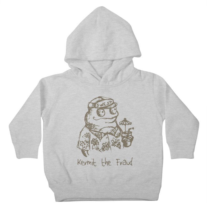 Fraudulent Frog Kids Toddler Pullover Hoody by amybelonio's Artist Shop