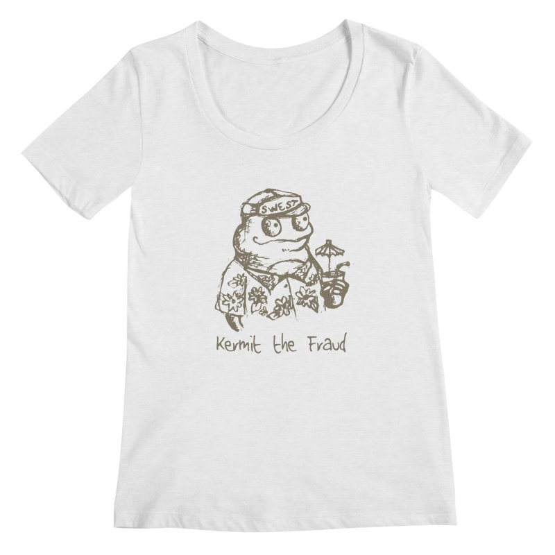 Fraudulent Frog Women's Regular Scoop Neck by amybelonio's Artist Shop