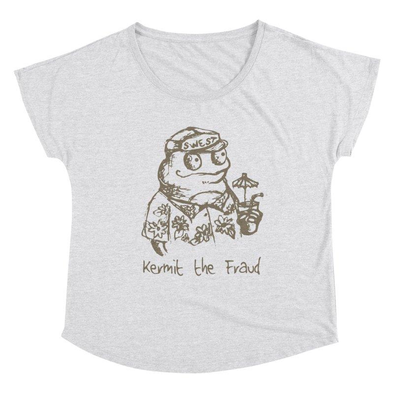 Fraudulent Frog Women's Dolman Scoop Neck by amybelonio's Artist Shop