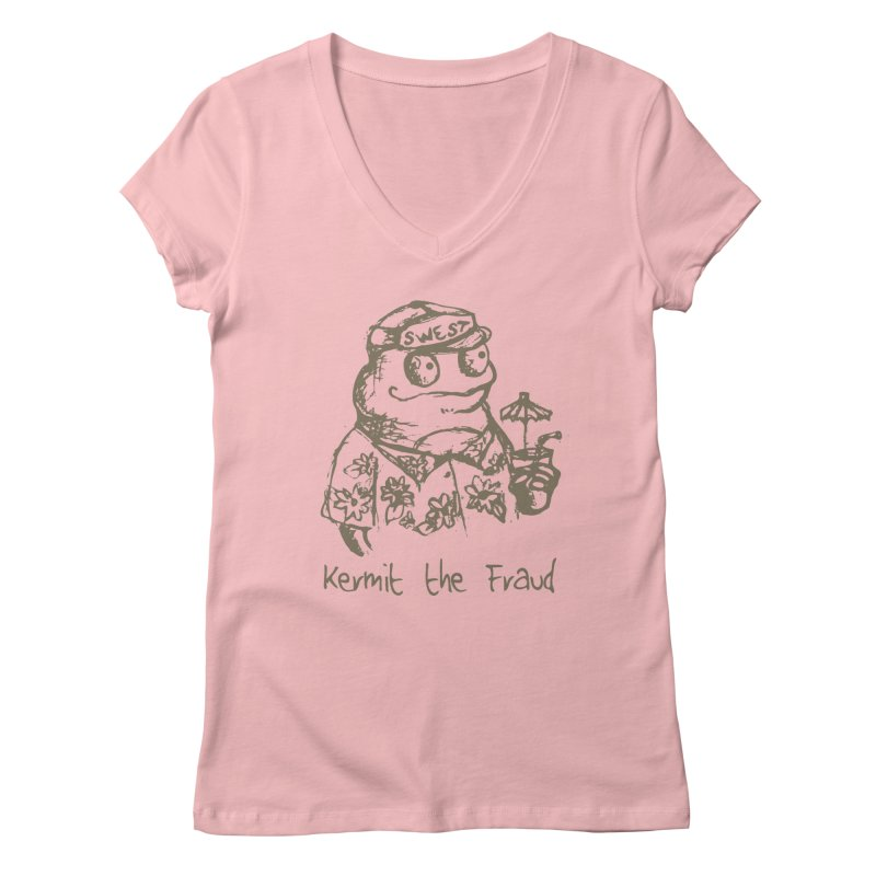 Fraudulent Frog Women's Regular V-Neck by amybelonio's Artist Shop