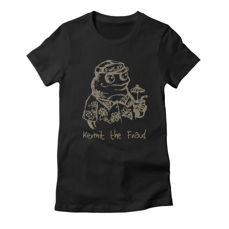Fraudulent Frog Women's Fitted T-Shirt by amybelonio's Artist Shop