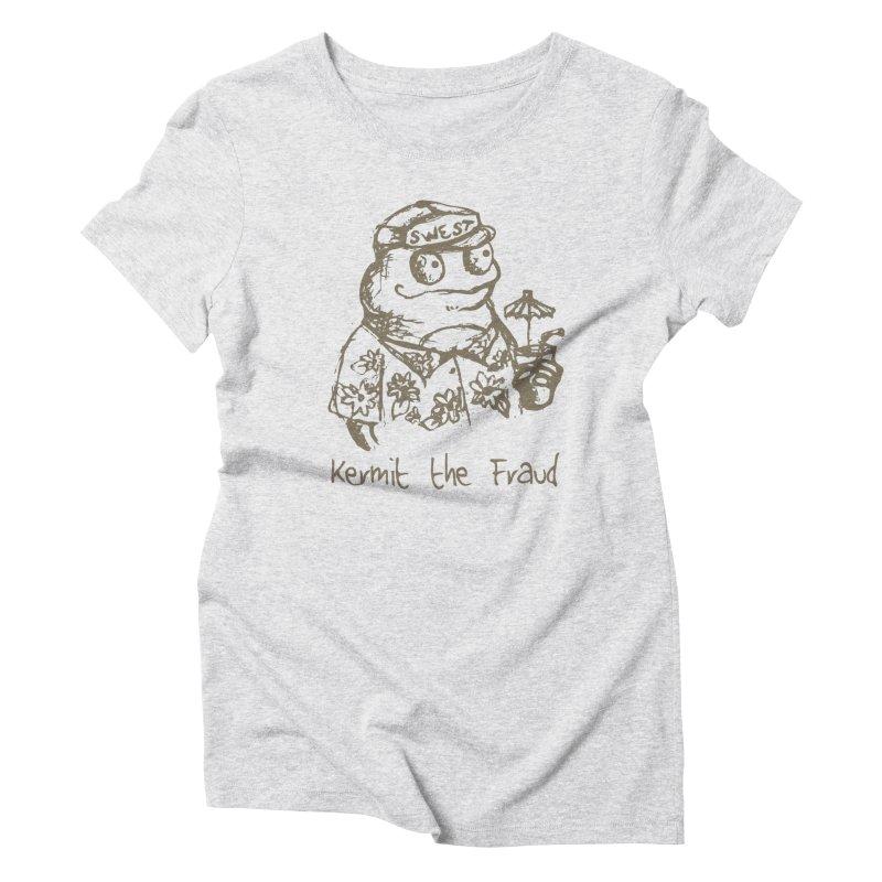 Fraudulent Frog Women's Triblend T-Shirt by amybelonio's Artist Shop