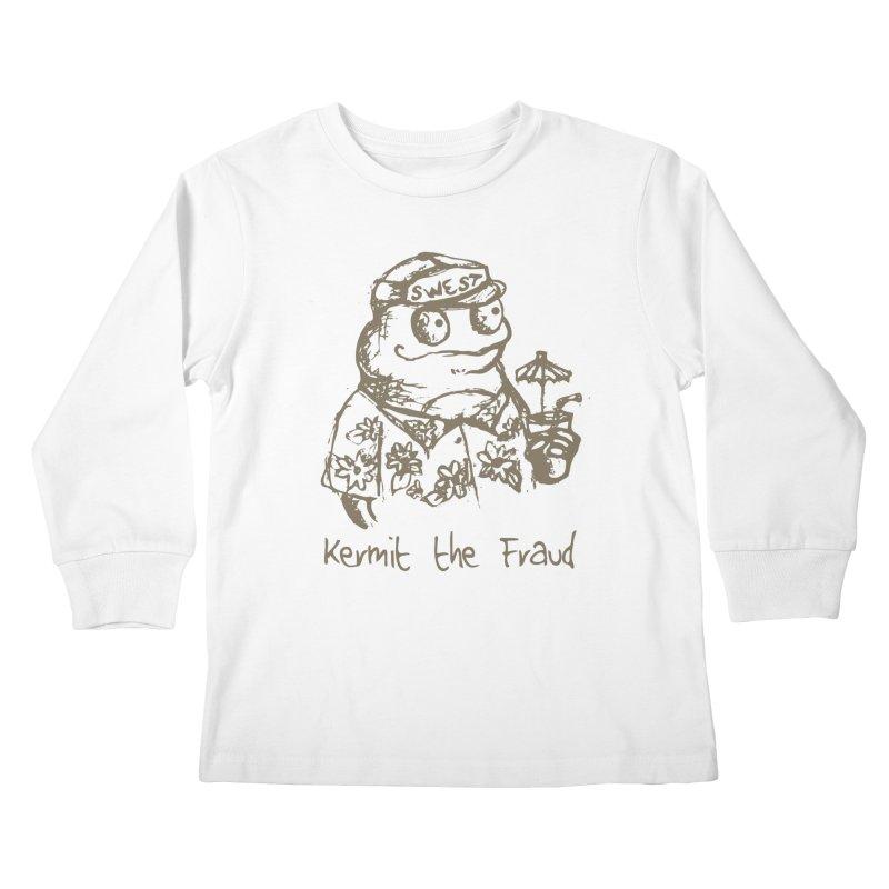 Fraudulent Frog Kids Longsleeve T-Shirt by amybelonio's Artist Shop