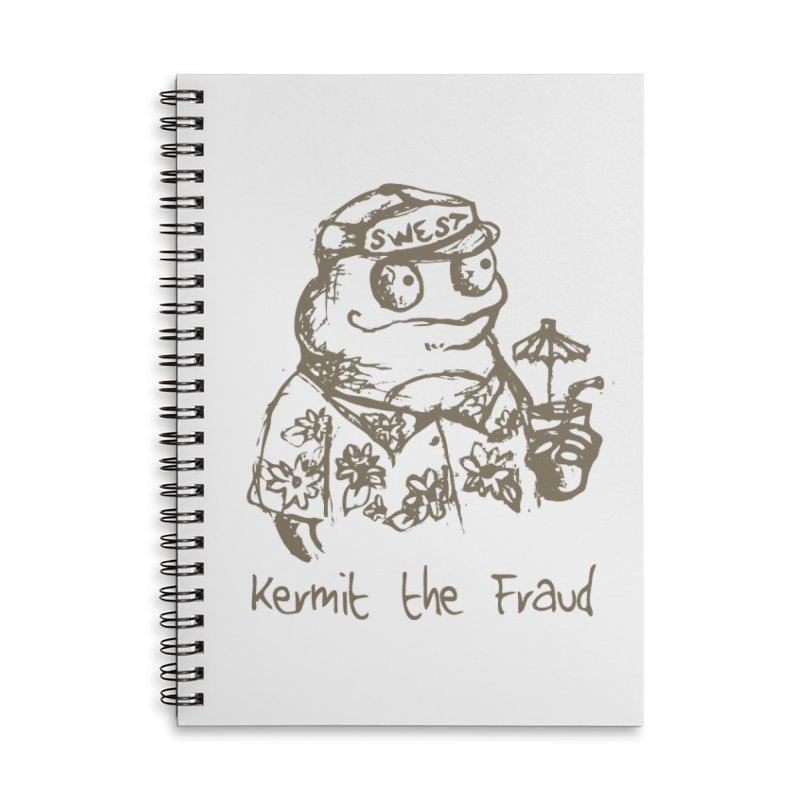 Fraudulent Frog Accessories Lined Spiral Notebook by amybelonio's Artist Shop