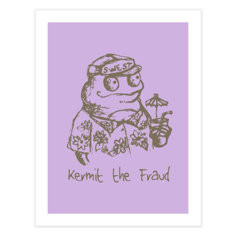Fraudulent Frog Home Fine Art Print by amybelonio's Artist Shop