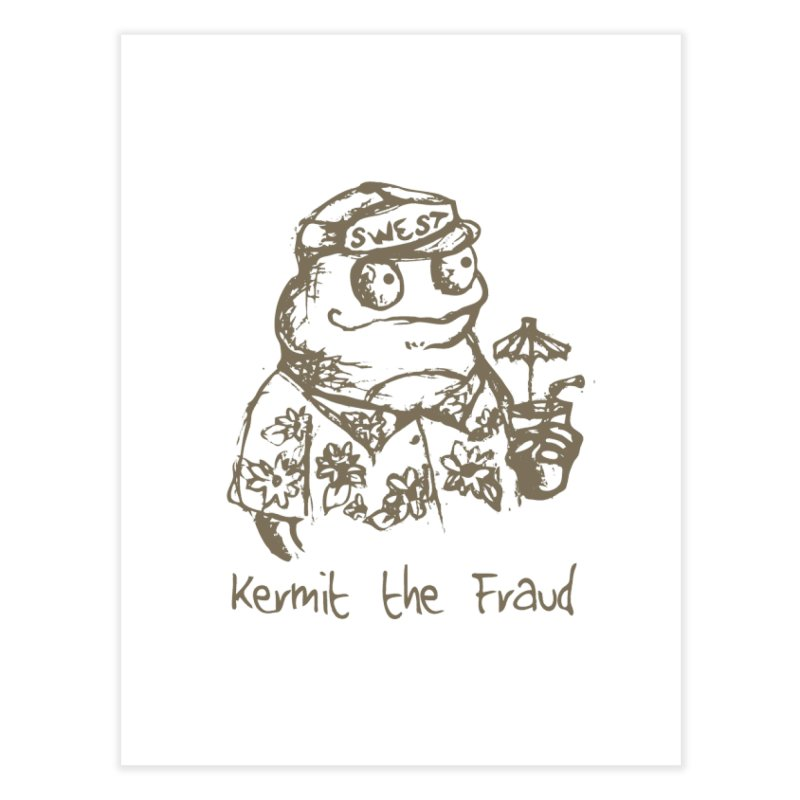 Fraudulent Frog Home Fine Art Print by amybelonio's Artist Shop