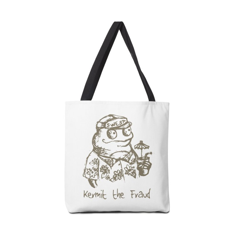 Fraudulent Frog Accessories Tote Bag Bag by amybelonio's Artist Shop
