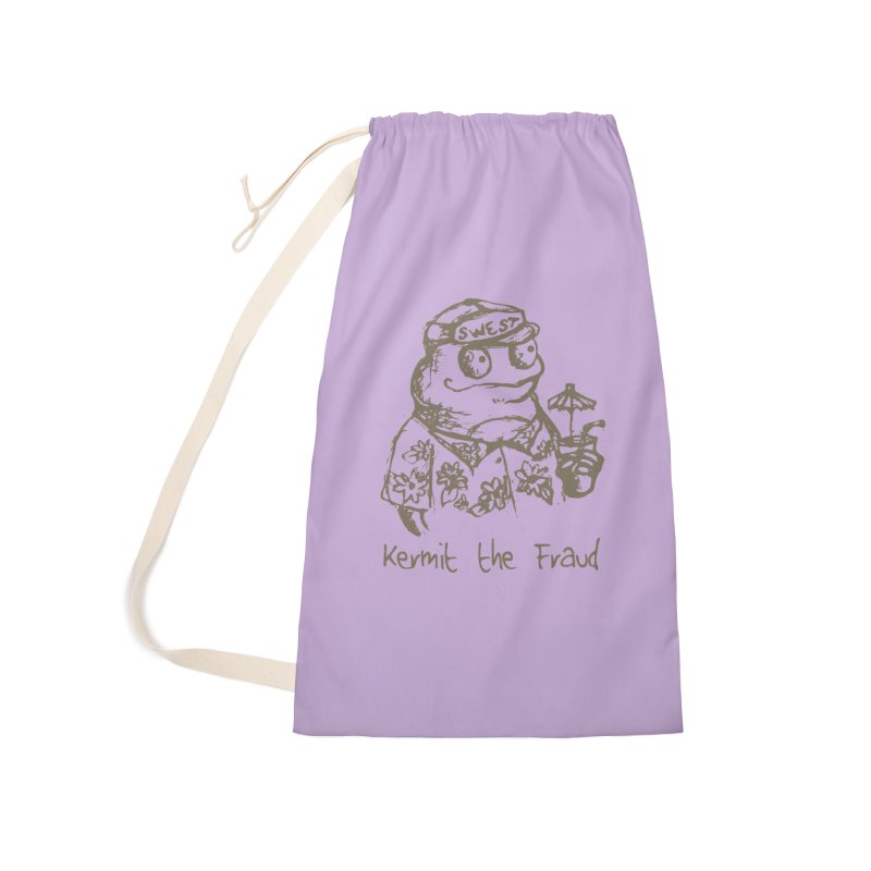 Fraudulent Frog Accessories Bag by amybelonio's Artist Shop