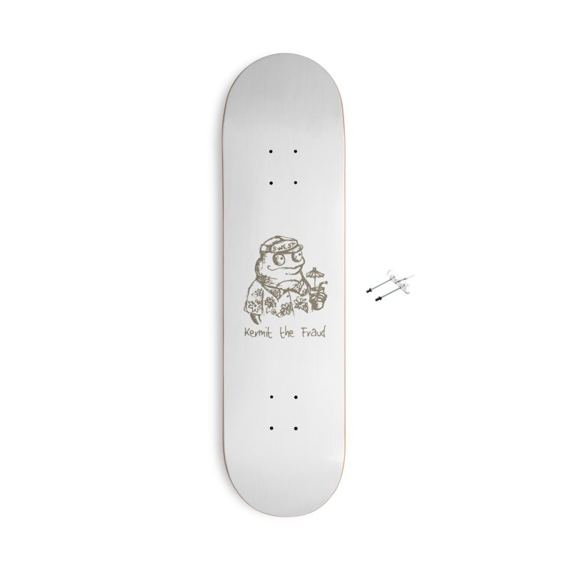 Fraudulent Frog Accessories With Hanging Hardware Skateboard by amybelonio's Artist Shop
