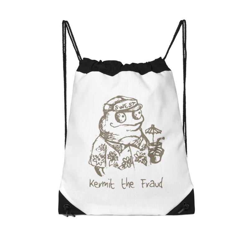 Fraudulent Frog Accessories Drawstring Bag Bag by amybelonio's Artist Shop