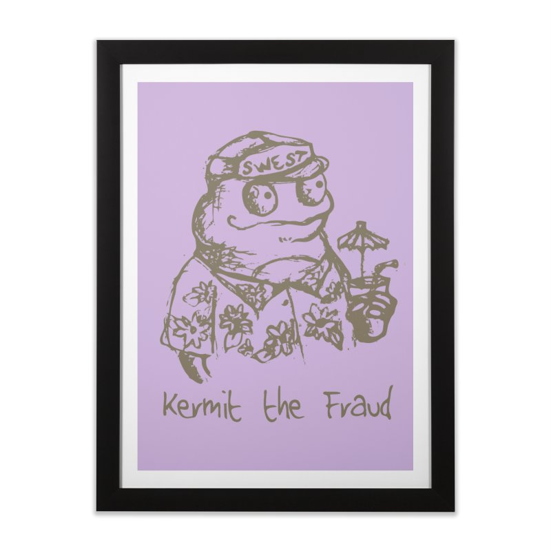 Fraudulent Frog Home Framed Fine Art Print by amybelonio's Artist Shop