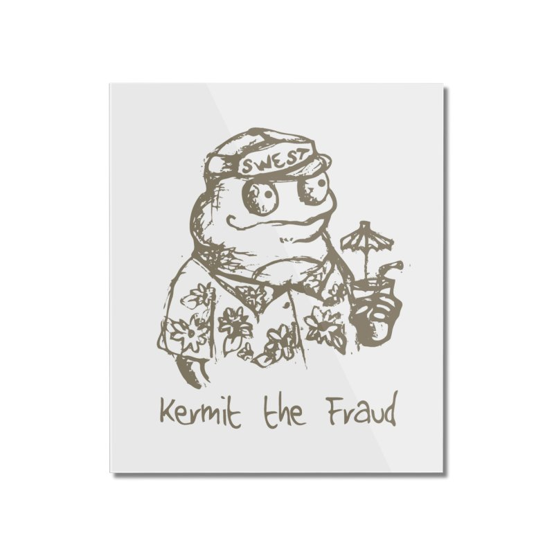 Fraudulent Frog Home Mounted Acrylic Print by amybelonio's Artist Shop