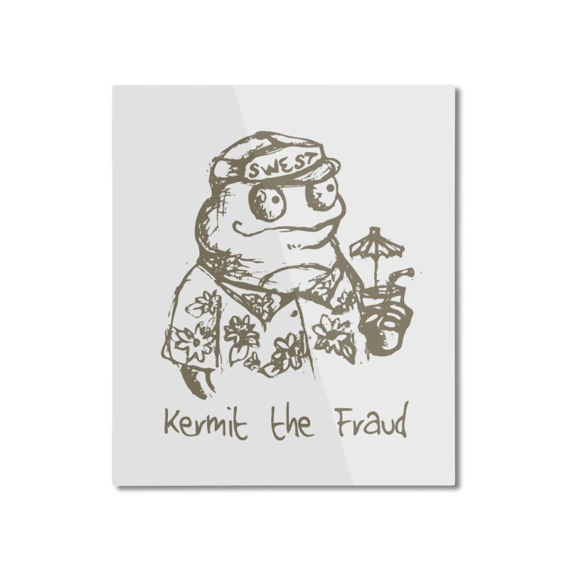 Fraudulent Frog Home Mounted Aluminum Print by amybelonio's Artist Shop
