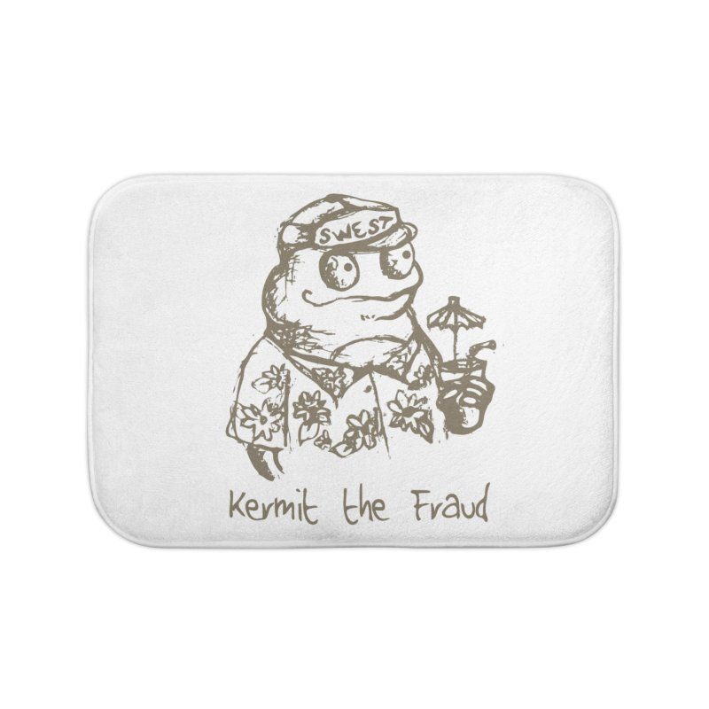 Fraudulent Frog Home Bath Mat by amybelonio's Artist Shop