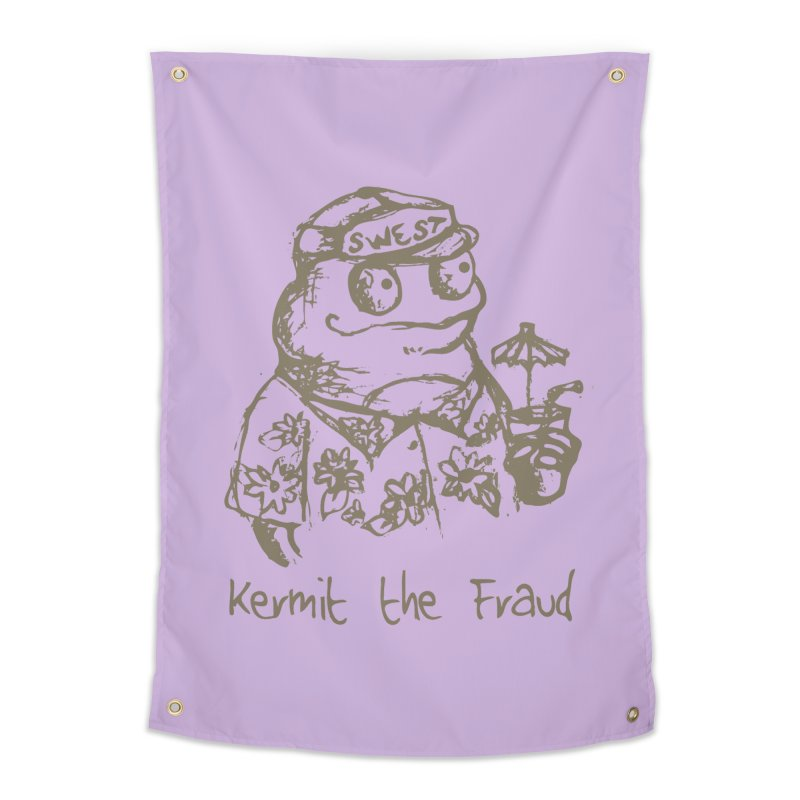 Fraudulent Frog Home Tapestry by amybelonio's Artist Shop