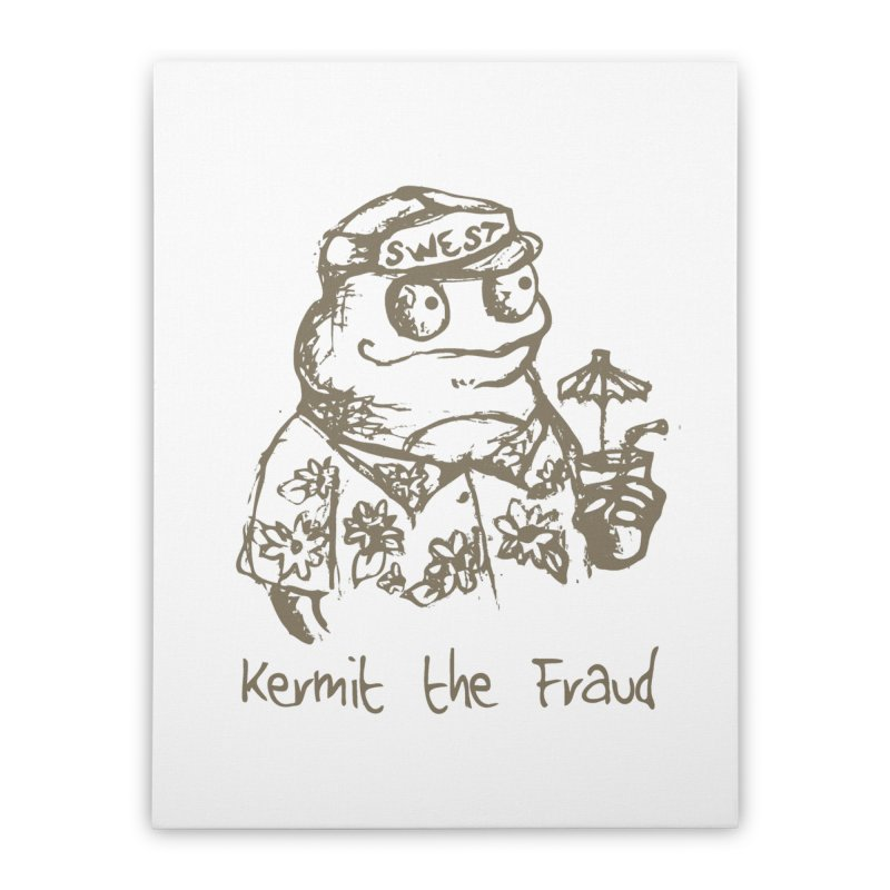Fraudulent Frog Home Stretched Canvas by amybelonio's Artist Shop